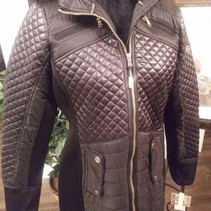 Michael Kors Faux Fur Hooded Jacket